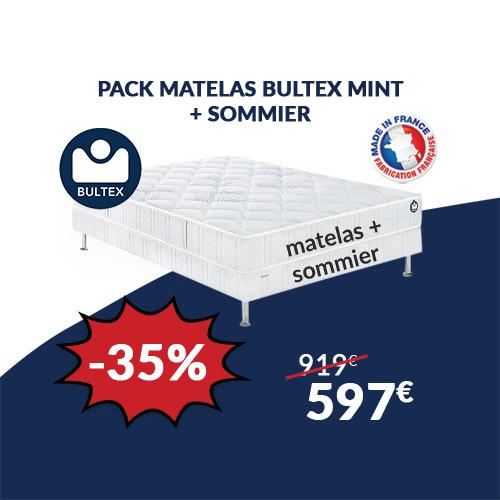pack matelas + sommier bultex