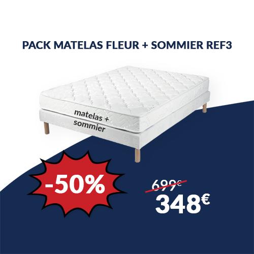 Pack Matelas FLEUR + Sommier REF3